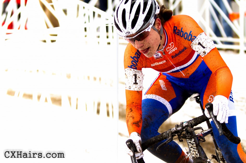 Marianne Vos ran away with the women's title. Vos is Boss. Cross is Vos.