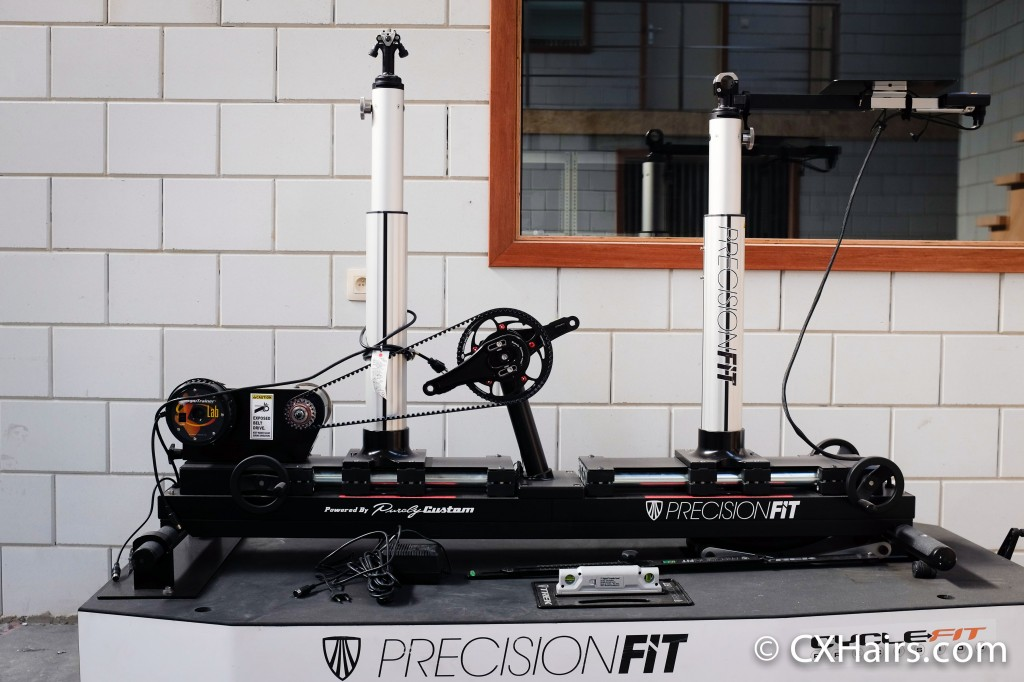 Without a performance lab on site, this precision fit machine is transported to other locations as needed.