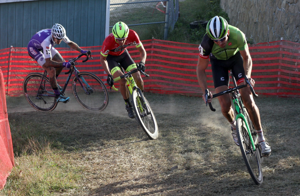 Trebon makes it back to the lead chase group after flatting. © 2015 Sean Roach