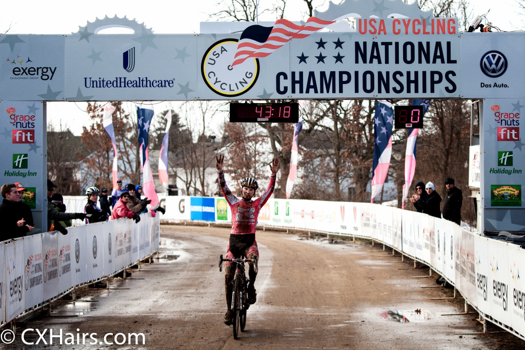 Owen winning his 8th stars and stripes jersey in Madison. © Bill Schieken