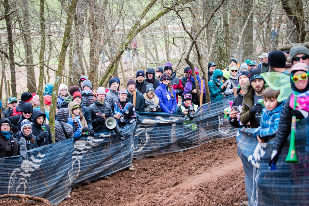 Crowds steadily grew deeper and deeper along the course barriers over the course of the day.