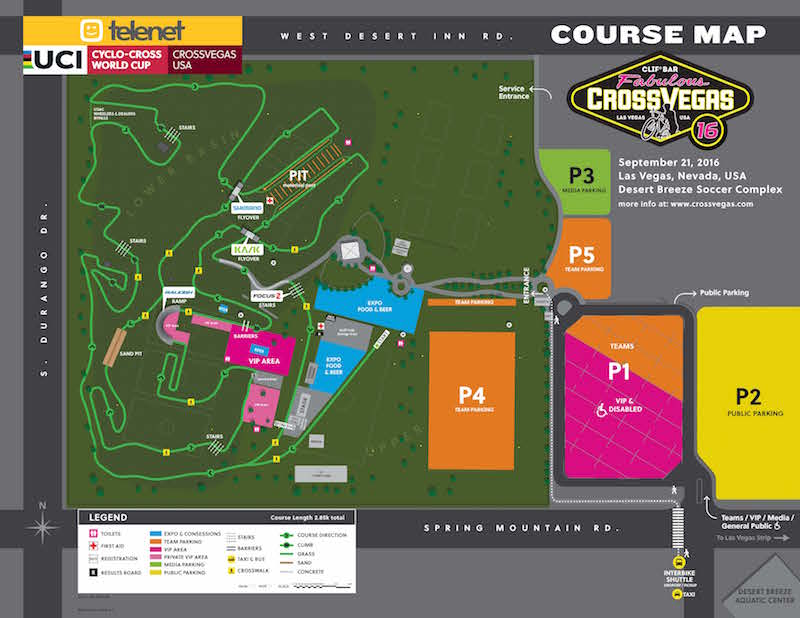 Clif Bar CrossVegas Course Map