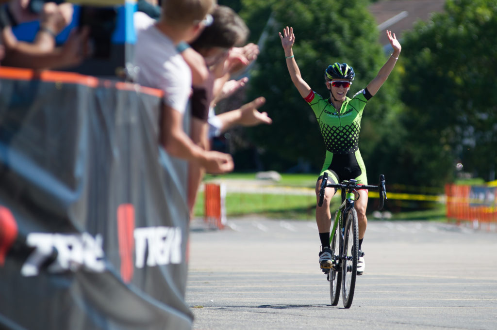 Katie Antonneau takes the win in Waterloo. © 2016 Ethan Glading