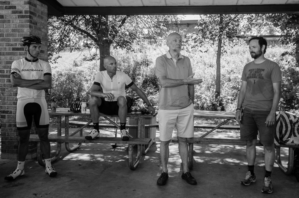Pieter Ombregt's father, Ludwig Ombregt, addresses the group before the clinic begins. © 2016 Ethan Glading