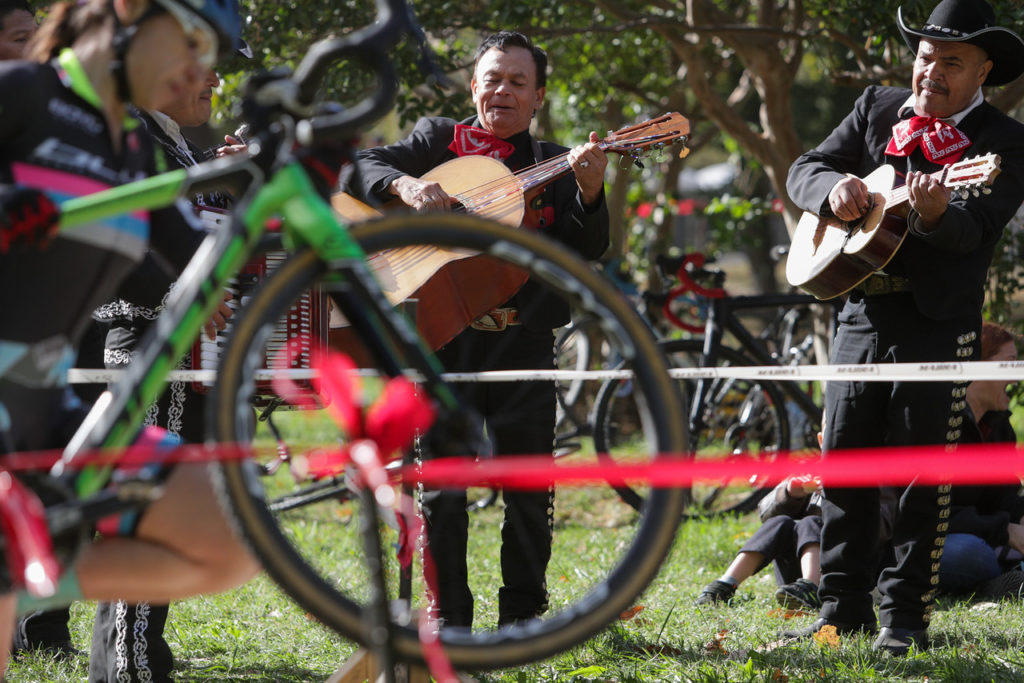 No, elite women's racers, you were hallucinating due to oxygen debt. That really was a mariachi band serenading you course-side.