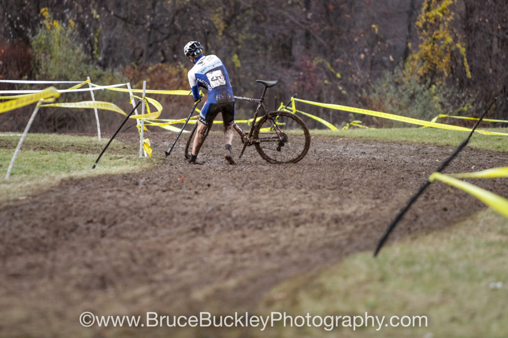 After his win on day one, Jack Kisseberth (Jam/NCC) had his share of struggles in the mud on day two.