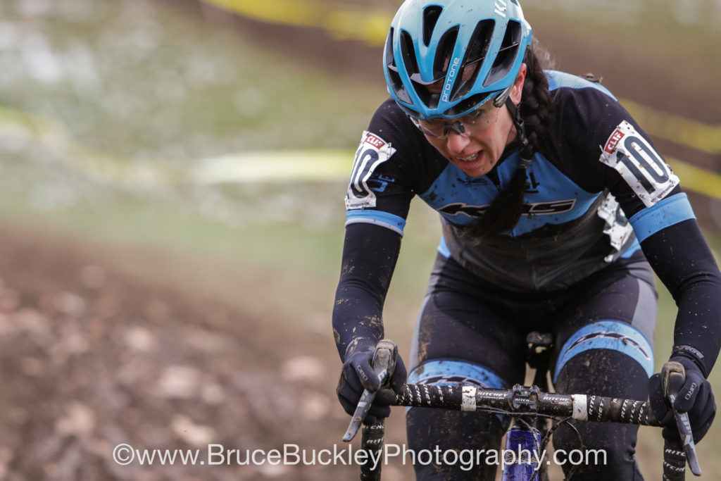 Rebecca Gross (Zero D Racing) bettered her 13th place on Saturday with a 7th place in the mud on Sunday.