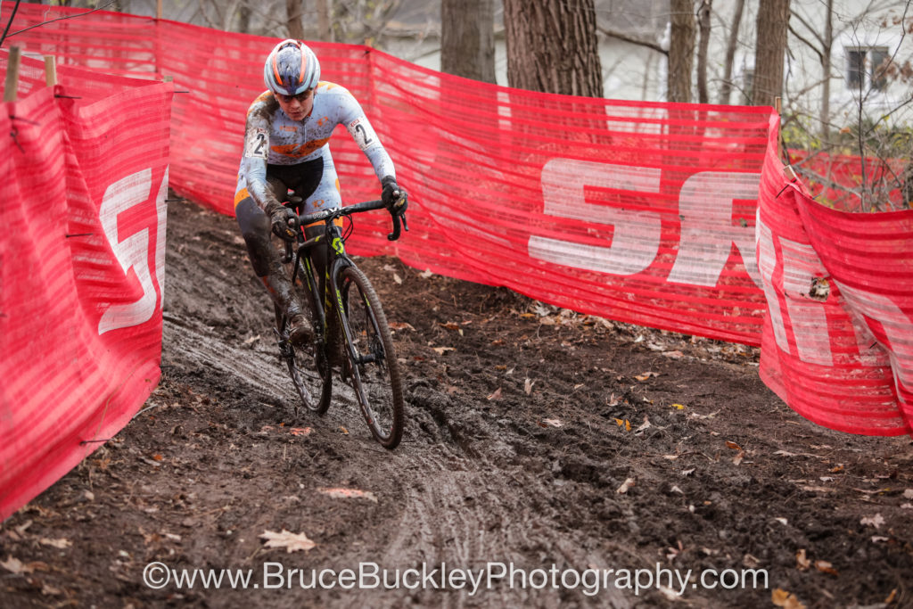 Rebecca Fahringer (Amy D Foundation) proved she's just as strong in the mud as she is in dry grass, finishing in third on both days.