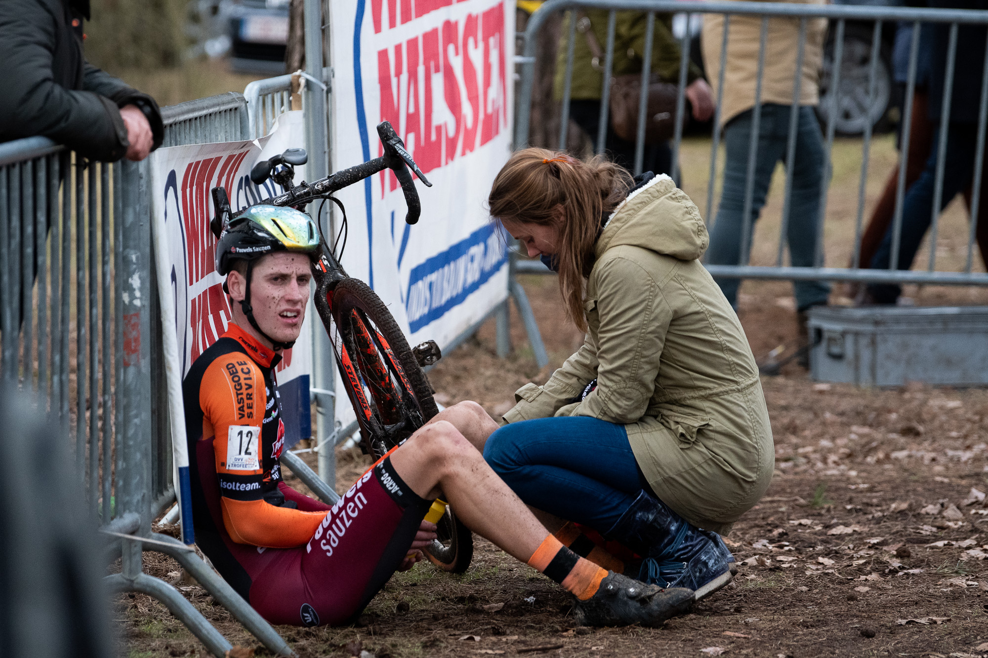 Jens Adams after the finish. Adams finished the race in 15th place.