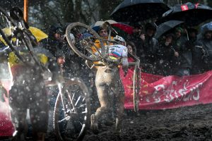 Toon Aerts and Mathieu van der Poel at the UCI World Cup Namur