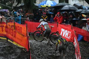 Mathieu van der Poel and Toon Aerts at the Namur World Cup