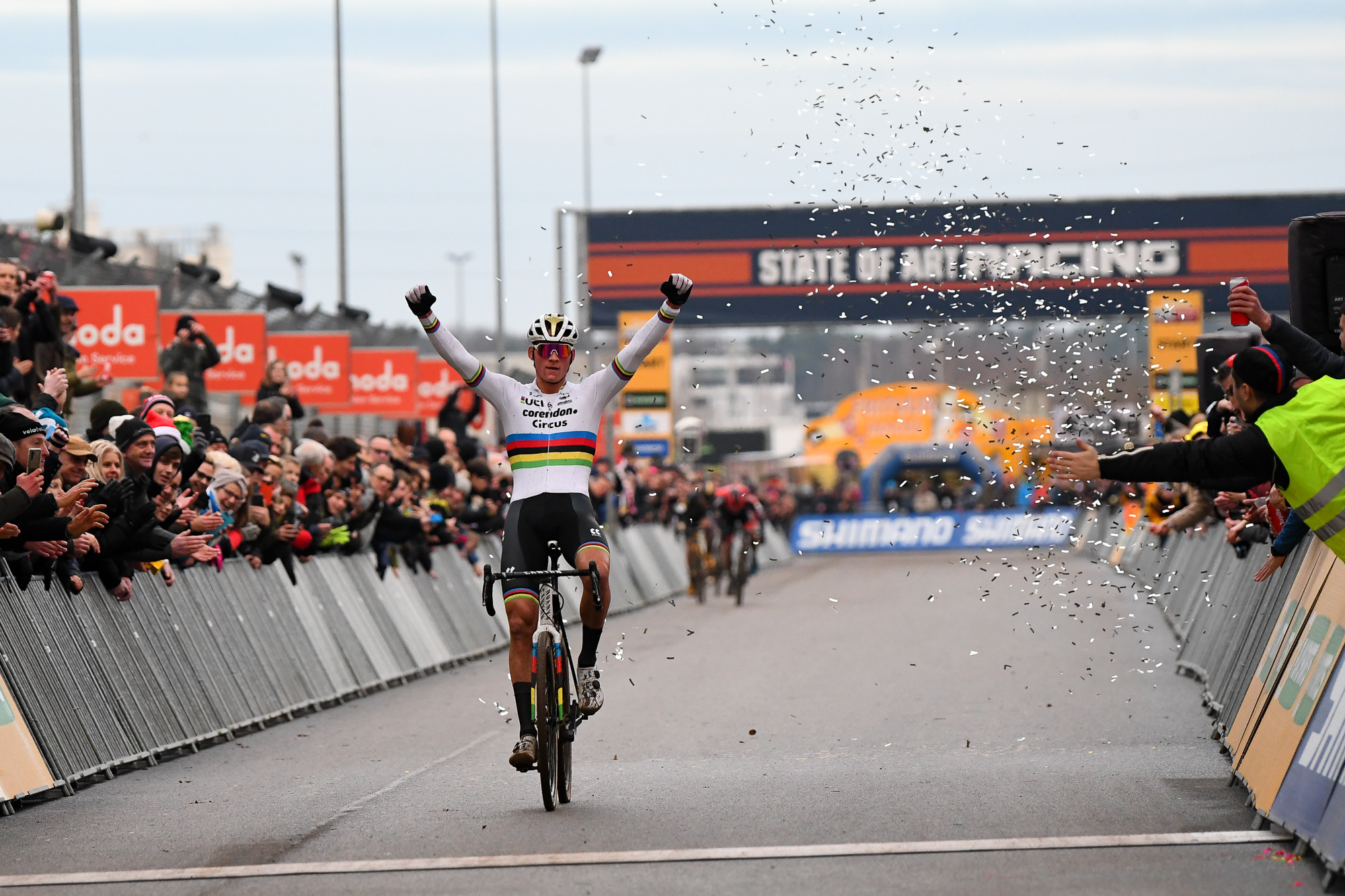 Mathieu van der Poel wins the UCI World Cup Heusden-Zolder