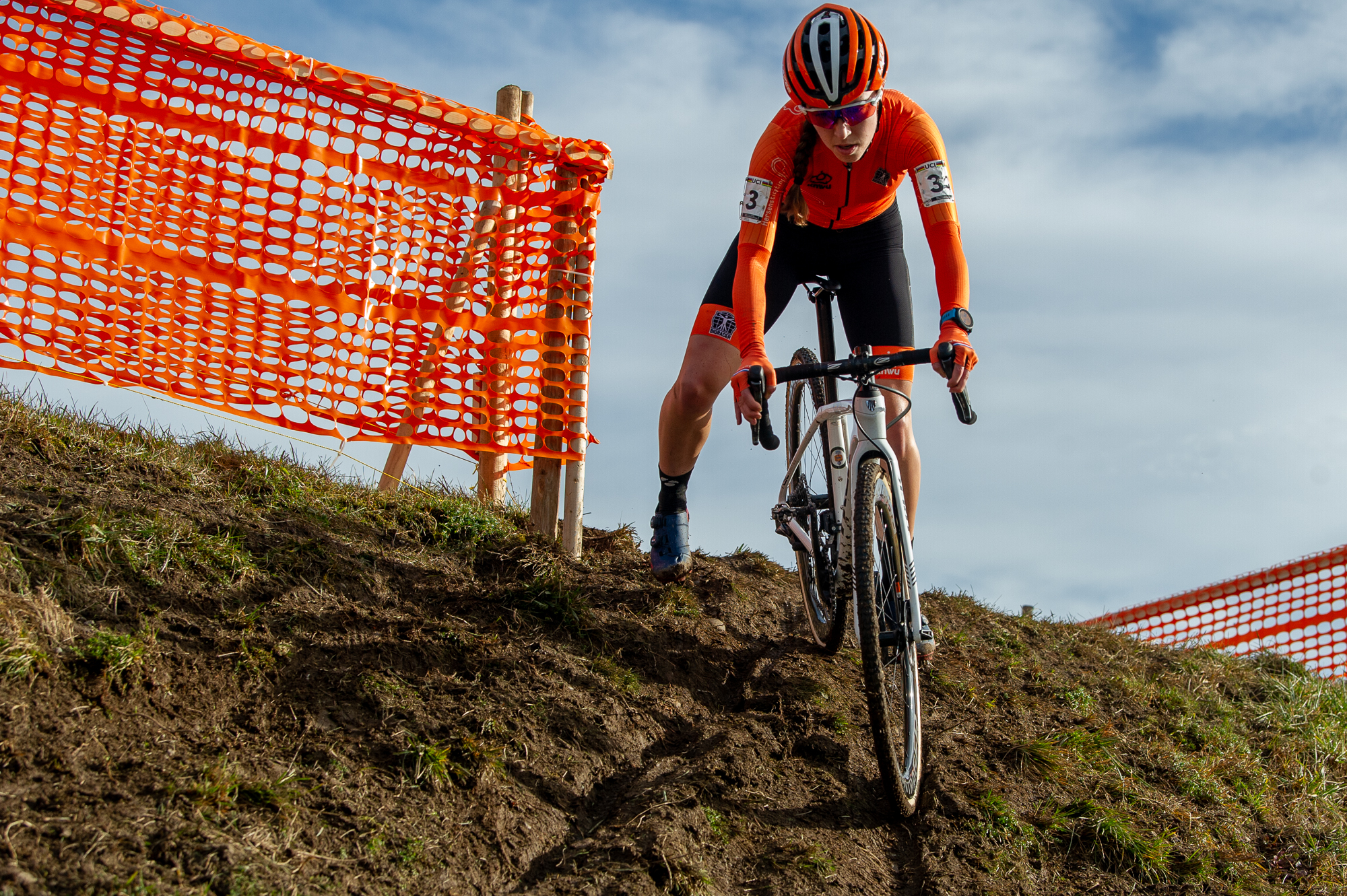 Shirin van Anrooij at the UCI Cyclocross World Championships